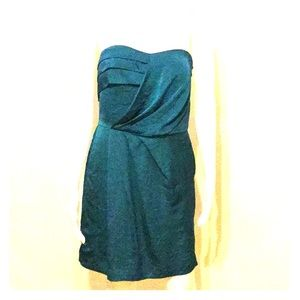 Teal Strapless Night Out Dress